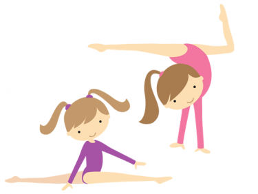 gymnastics clipart little girl