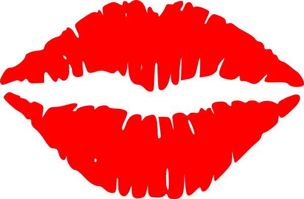 lips clipart silhouette