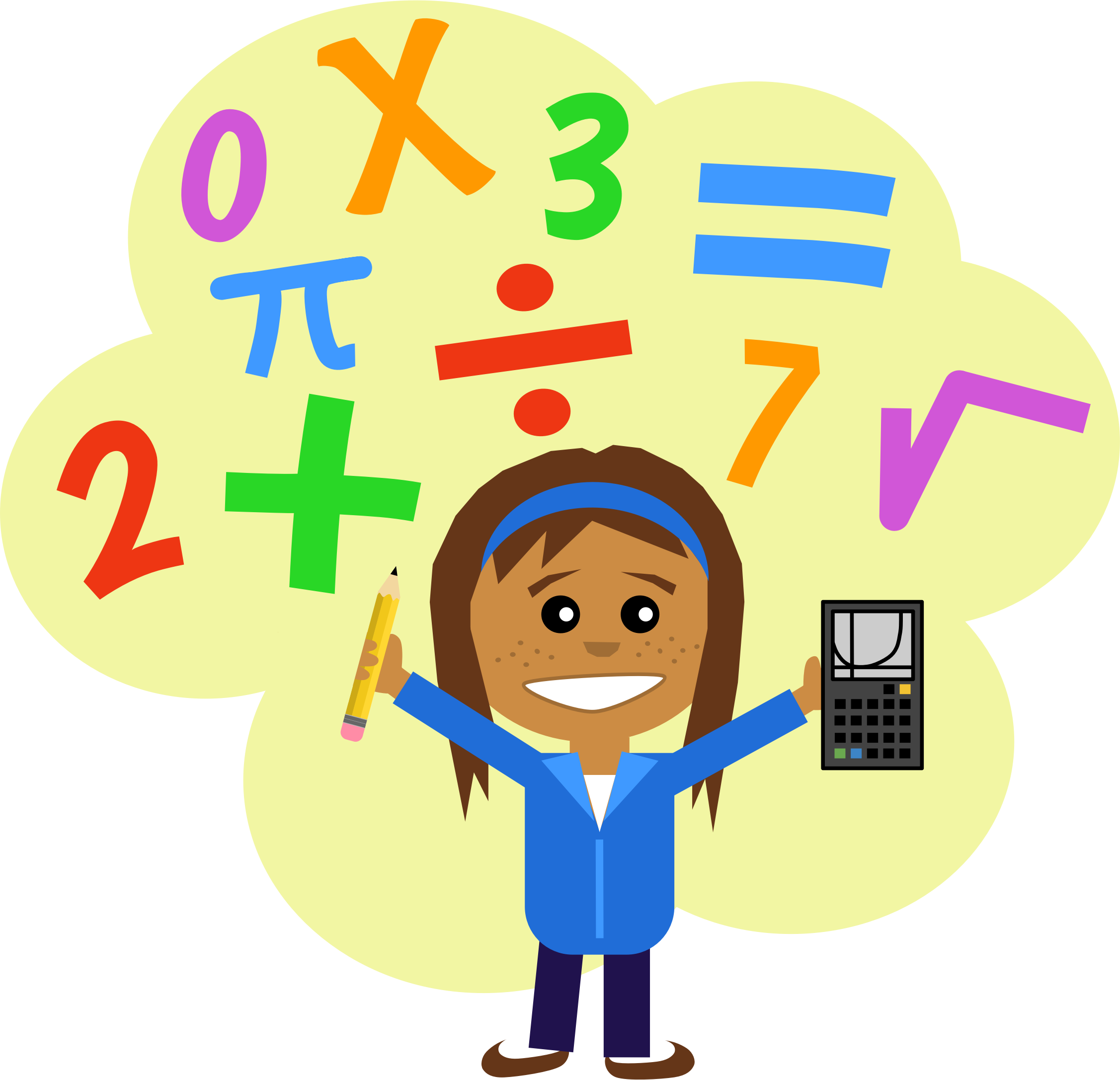 Cartoon clipart math.