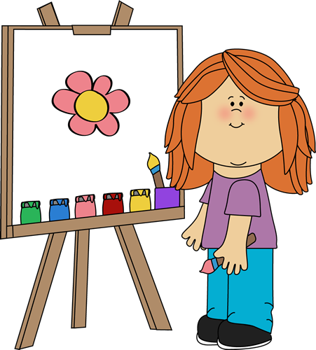 painting clipart canvas