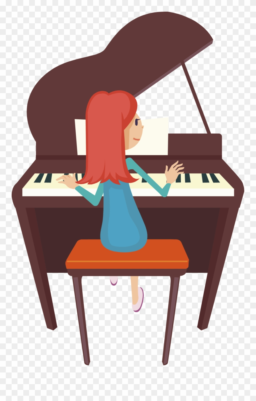 piano clipart playing