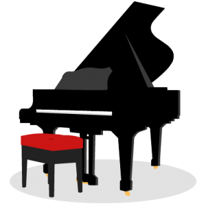 piano clipart cute