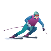 Girl clipart skiing.