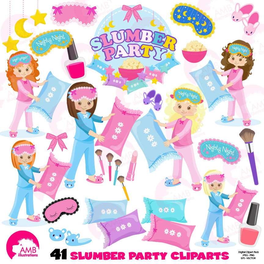 pillow clipart slumber party