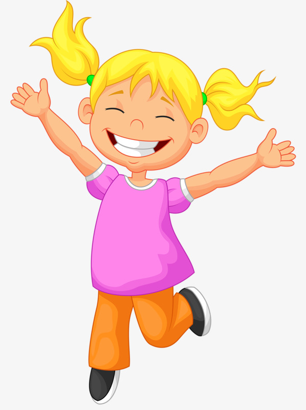 Girl clipart happy.