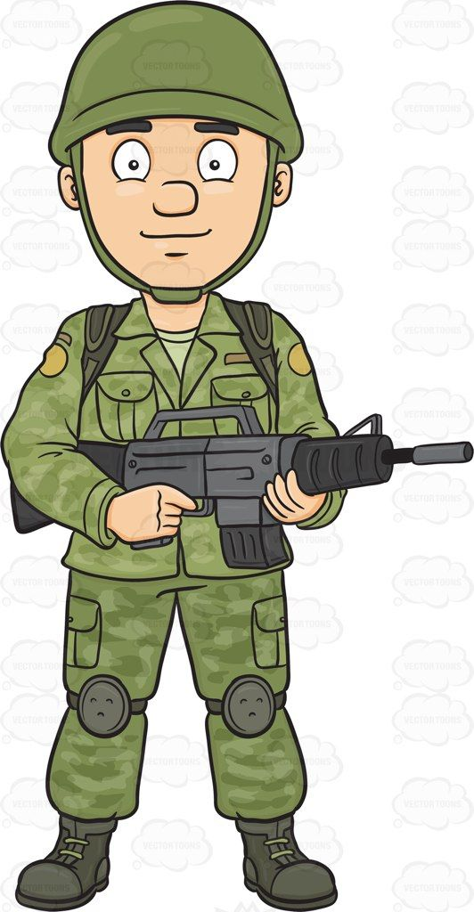 Girl clipart soldier.
