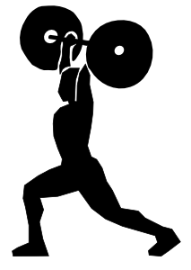 Girl clipart weightlifting.