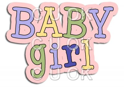 Girl clipart word.