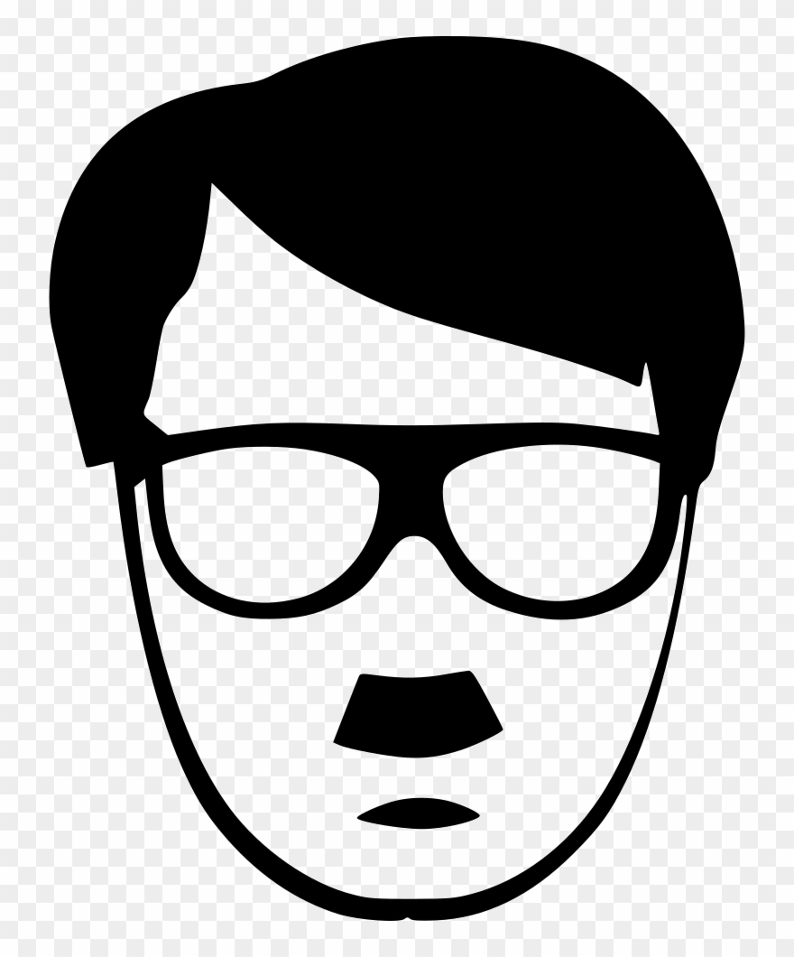 Glasses clipart hair style.
