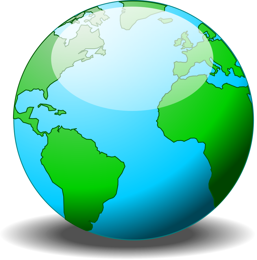 Globe clipart library.