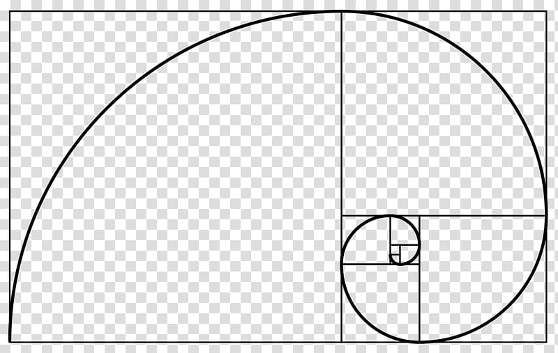 golden ratio clipart minimalist