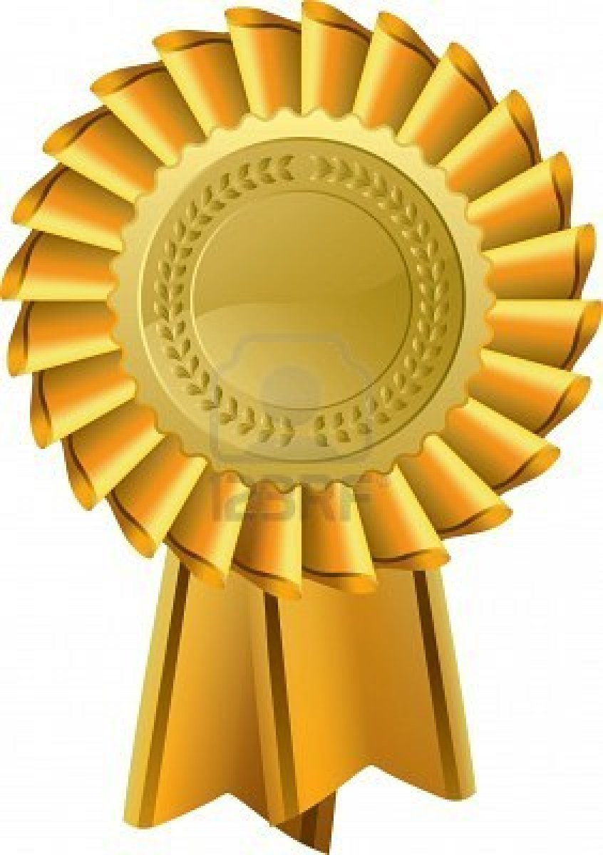 Good clipart gold award ribbon.