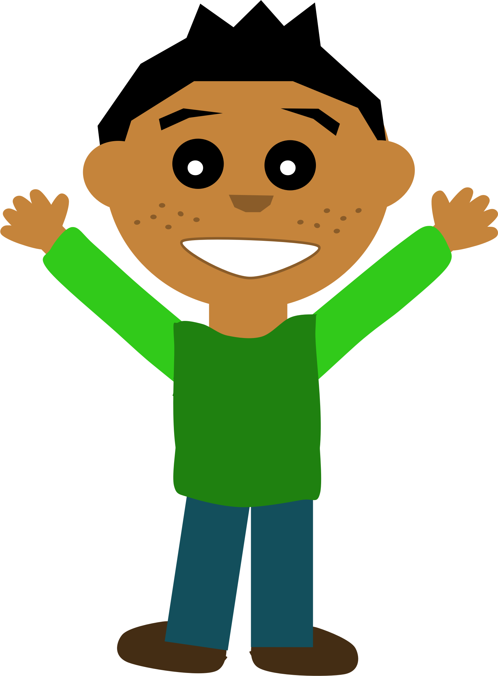 Comprised clipart boy.