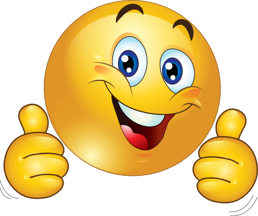 clipart thumbs up smiley face