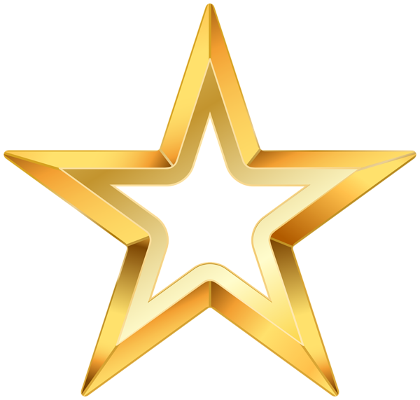 gold star clipart clear background