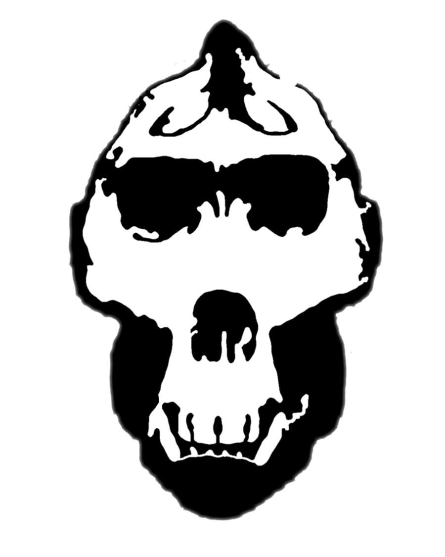clipart skull angry