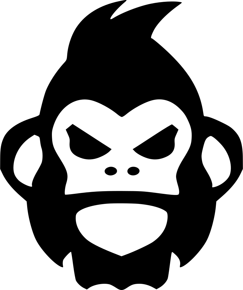 gorilla clipart angry