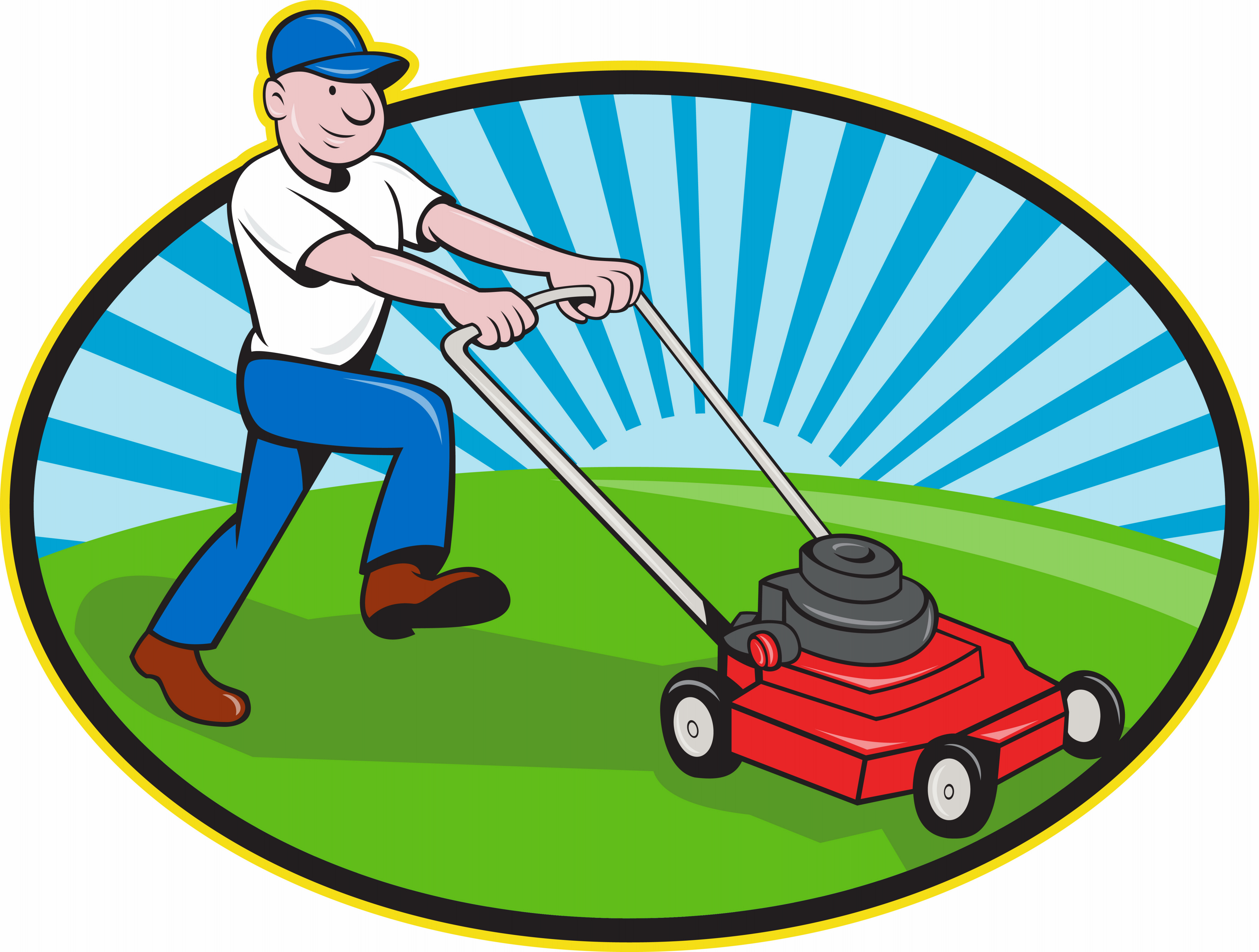 landscaping clipart man