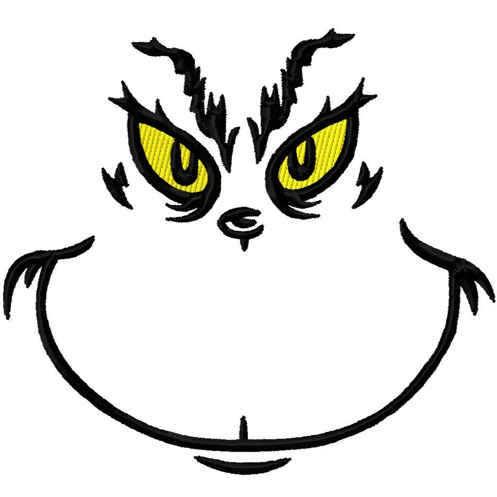 christmas clipart black and white grinch