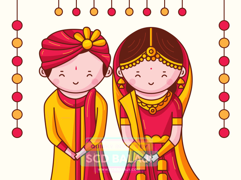 Groom clipart bengali wedding card.