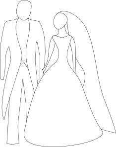 Groom clipart black and white.