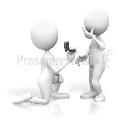 Groom clipart love proposal.