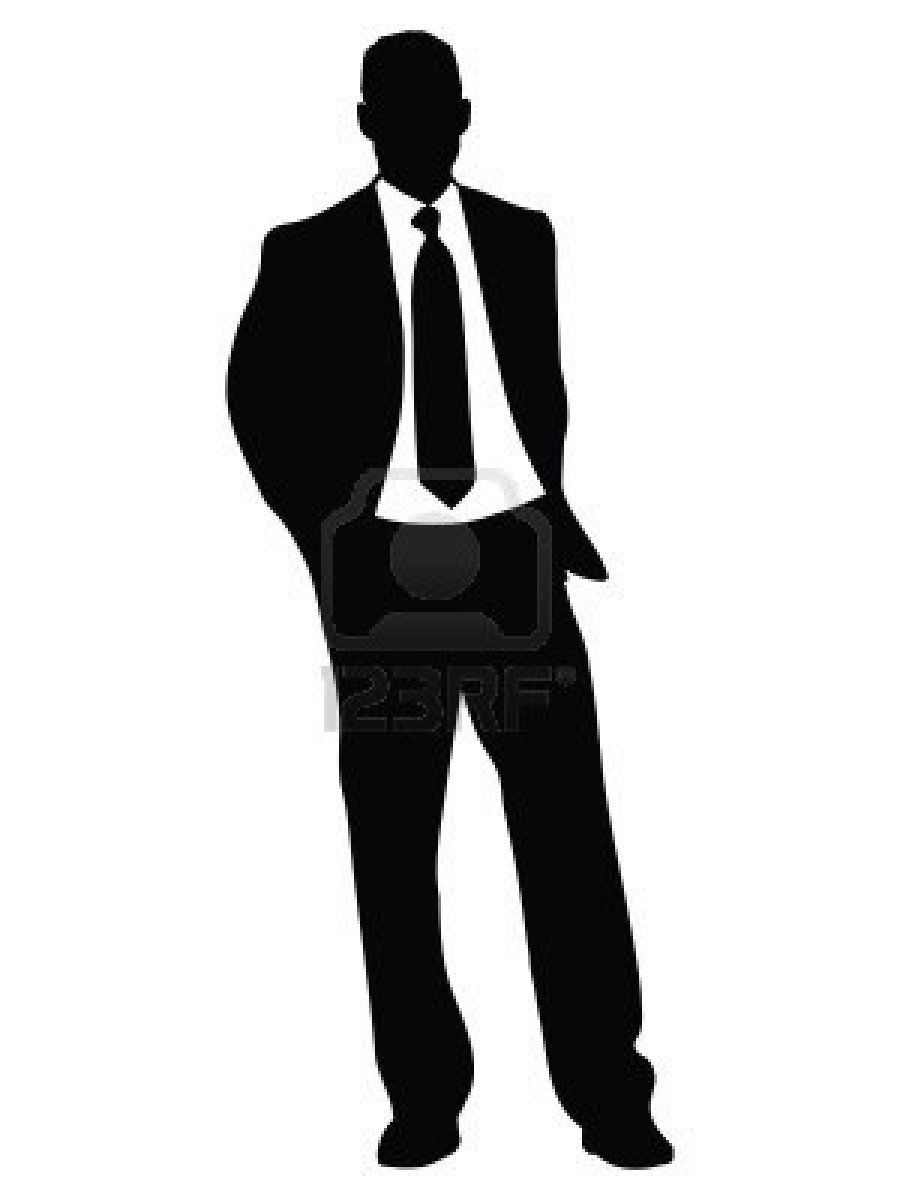 person silhouette clipart standing