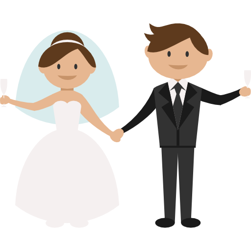 Groom clipart wedding reception couple.