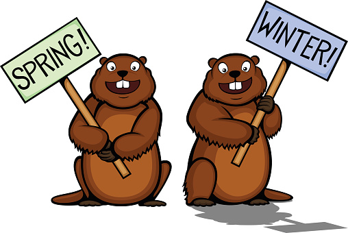 Groundhog clipart day animated.