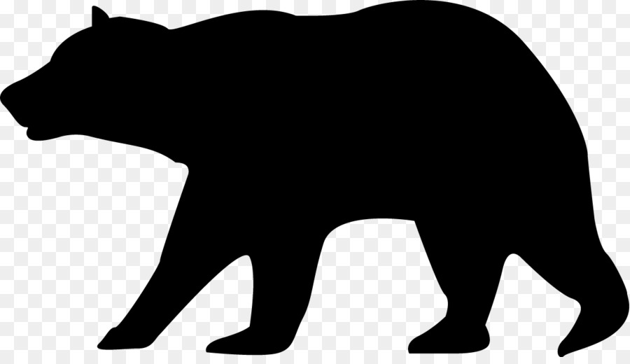black bear clipart transparent background
