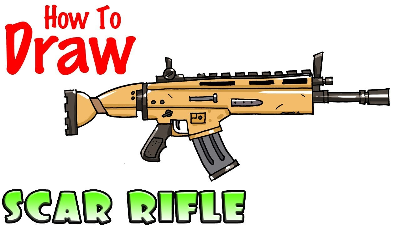 fortnite scar clipart special combat assault rifle