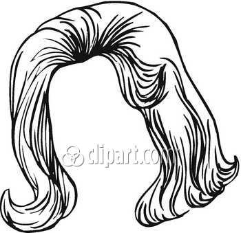 wig clipart outline