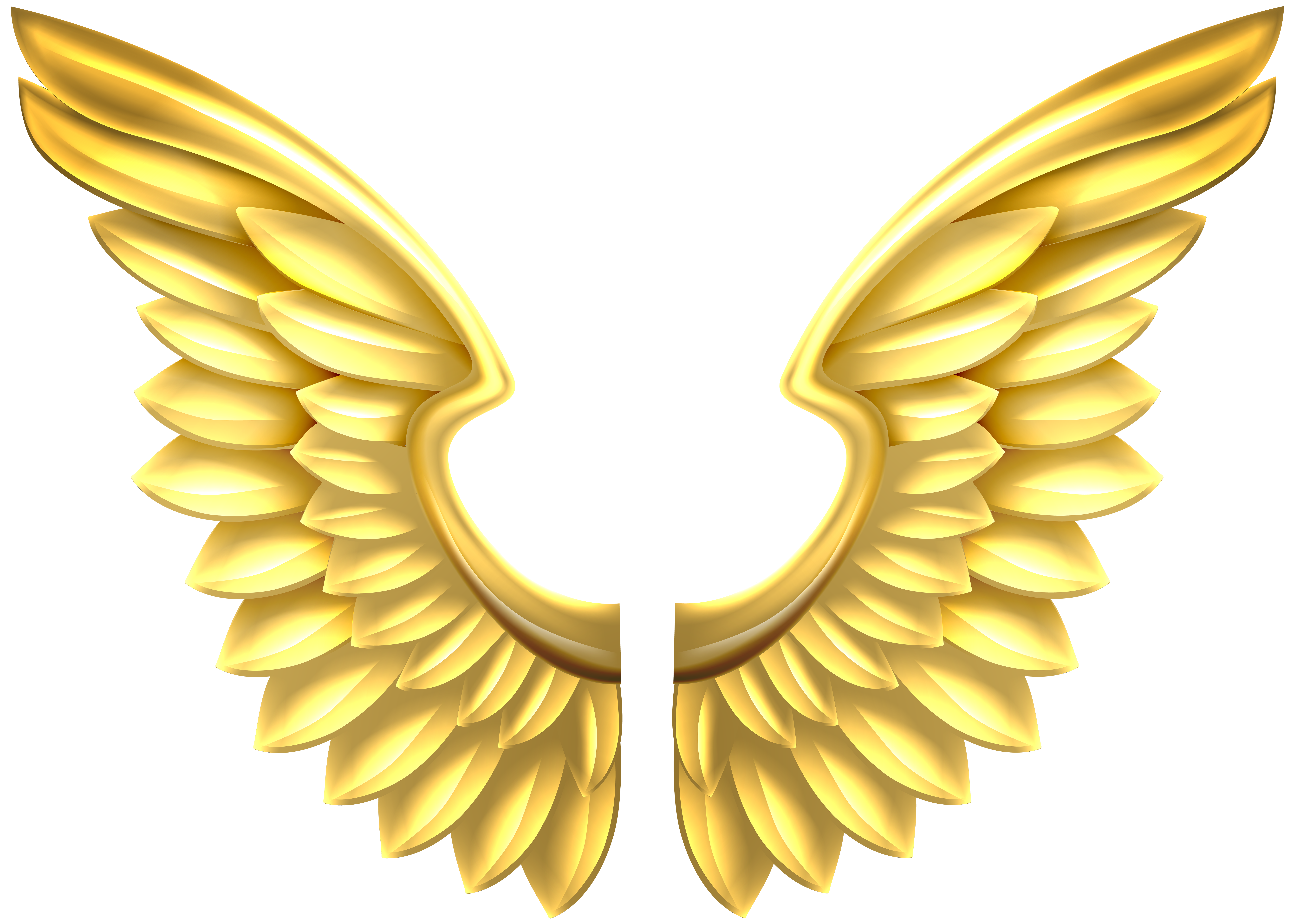 angel wings clipart gold