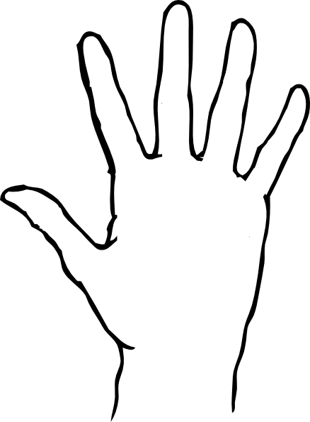 Hands clipart printable.