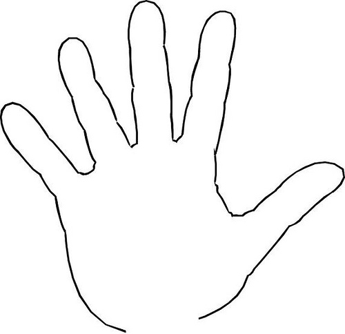 Hand clipart printable.