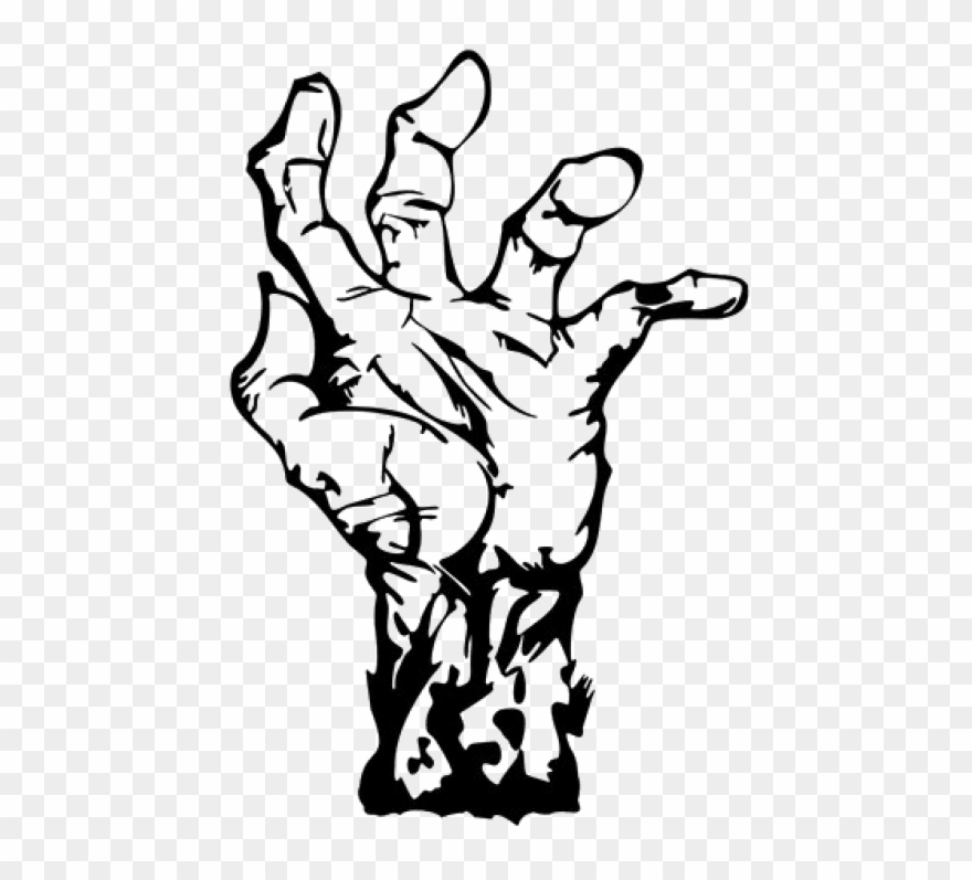 zombie clipart outline