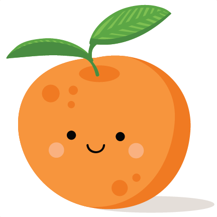 Orange clipart cute.
