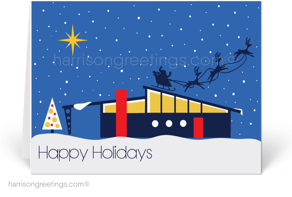 happy holidays clipart modern