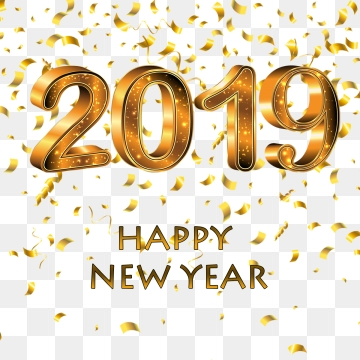 happy new year 2019 clipart vector