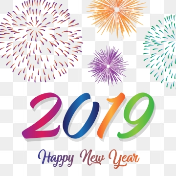 happy new year 2019 clipart 2018 language