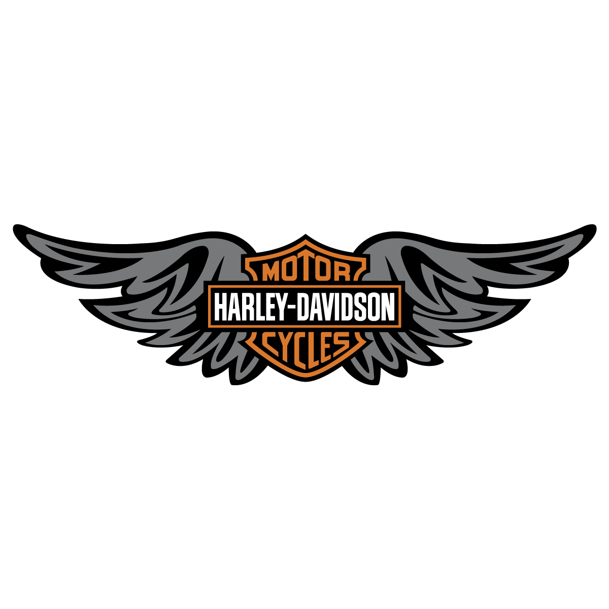 Harley davidson clipart wing.