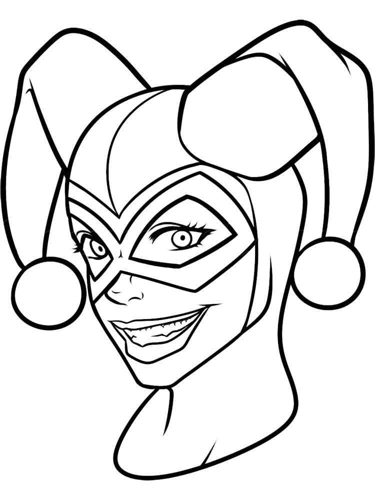 Harley quinn clipart joker coloring page.