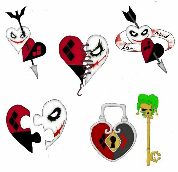 Harley quinn clipart tattoo.