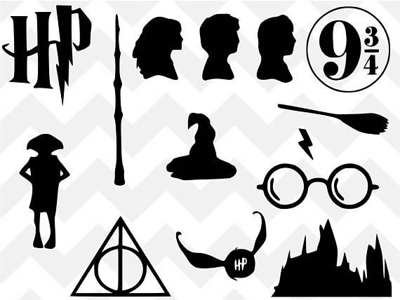 Harry potter wand clipart silhouette.