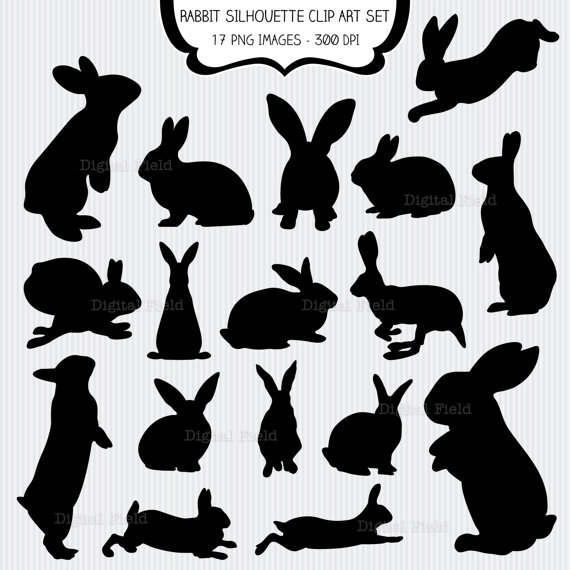 easter black and white clipart silhouette