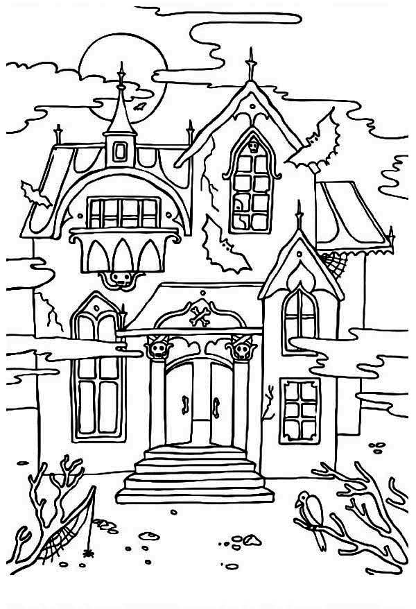 haunted house clipart drawing