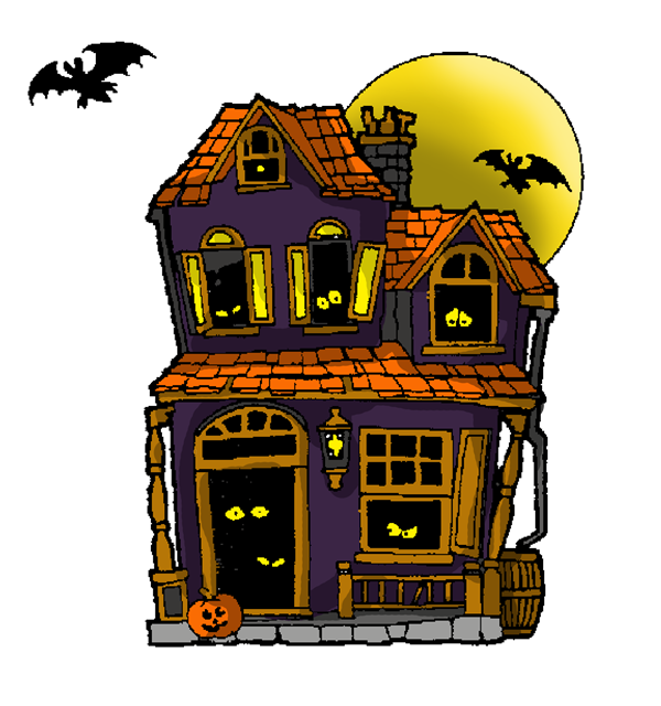 haunted house clipart inside