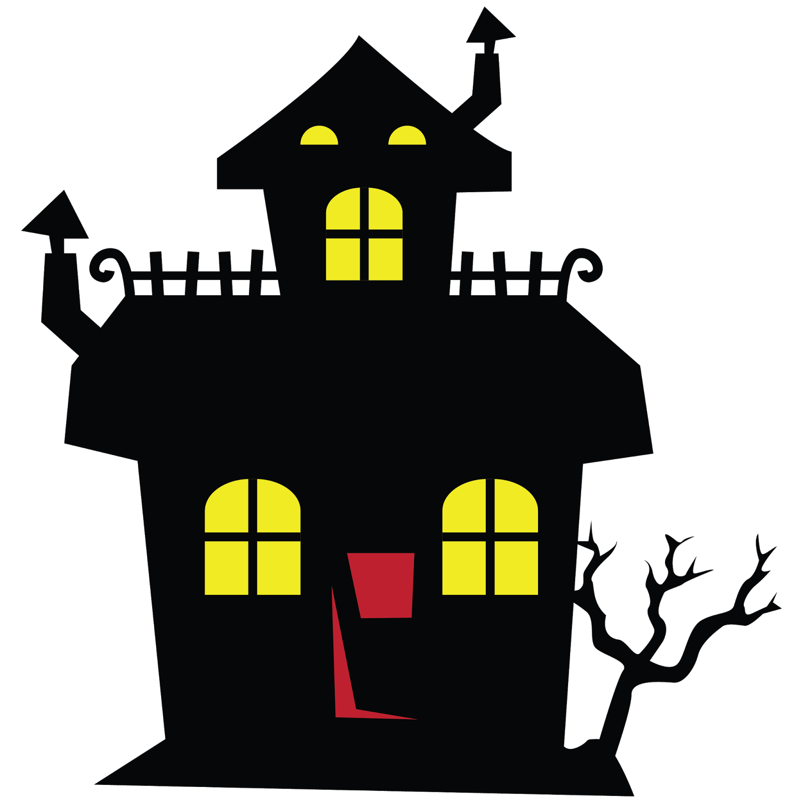 haunted house clipart animated