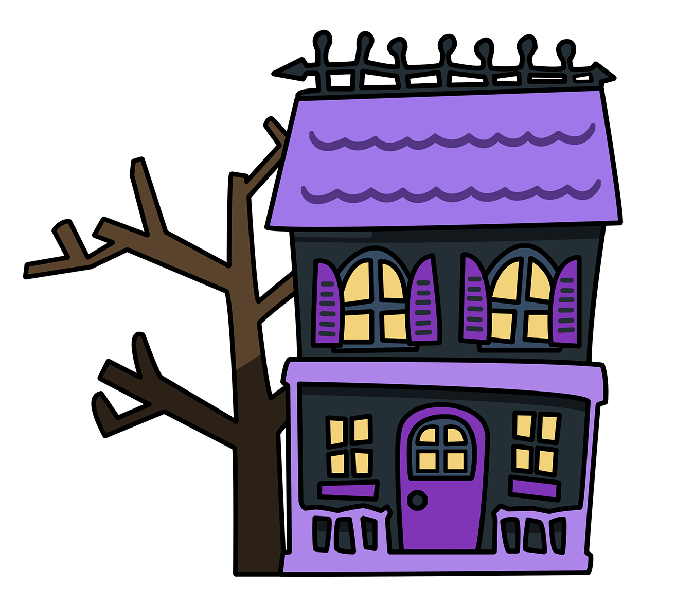 haunted house clipart cute