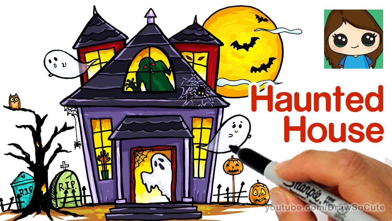 haunted house clipart easy